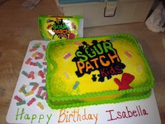 Sour Patch Kids Box Cake
