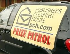 PCH Prize Patrol behind the scenes. Usually Dave Sayer drives the van when we surprise our winners :)