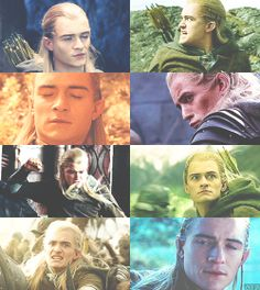 Legolas and his famous faces. xD