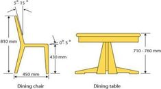 New Kitchen Table High Dining Chairs Ideas - Food: Veggie tables Dining Table Height, Dining Table Dimensions, Wooden Dining Chairs, Diy Dining Table, Dining Room Chairs, Table And Chairs, Dining Rooms, Navy Chairs, Lounge Chairs
