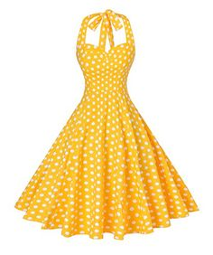 Looking for V fashion V fashion Women's Rockabilly Vintage Polka Dots Halter Cocktail Swing Dress ? Check out our picks for the V fashion V fashion Women's Rockabilly Vintage Polka Dots Halter Cocktail Swing Dress from the popular stores - all in one. Plus Size Maxi Dresses, 50s Dresses, Pretty Dresses, Fashion Dresses, Vintage Dresses 50s, Halter Dresses, Retro Dress, Rockabilly Dresses, Evening Dresses