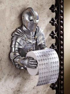 Knight Toilet Paper Holder | 27 Nerdy Gifts Your Dad Will Love On Father's Day