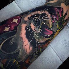 Cute Raccoon http://tattooideas247.com/cute-raccoon/