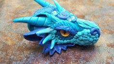 Blue Mist Dragon Head Pendant by AstridMakosla.deviantart.com on @deviantART