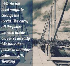 Motivation Monday #goals #entrepreneur #entrepreneurlife #motivation #mondaymotivation #motivationalquotes #inspiration #jkrowling #boating #dreams #travel #digitalnomad #positivevibes #power