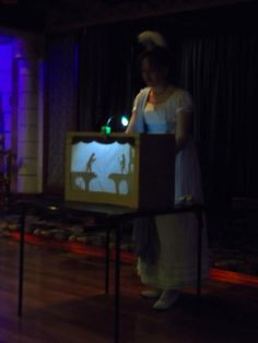 Vintage shadow puppet show