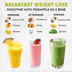 Detox Smoothies, Smoothie Drinks, Healthy Smoothies, Smoothie Recipes, Fruit Smoothies, Pineapple Smoothies, Nutribullet Recipes, Breakfast Smoothies For Weight Loss, Breakfast Drinks Healthy