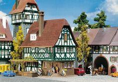 FALLER N SCALE ROTHENBURG INN MODEL BUILDING KIT 232282 #Faller::