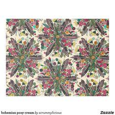 bohemian posy cream fleece blanket @zazzle #boho #bohemian #blanket