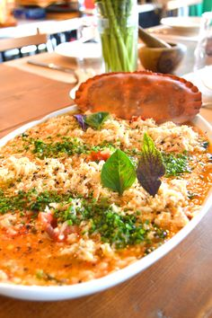 Crab orzo from Hams and Clams