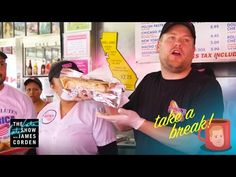 ✨☀️🌴 James Corden Take a Break @ Pinks Hotdogs in La ✨💖 Best Of Snl, Best Tv, Take A Break, Take That, The Late Late Show, Reality Tv, Hot Dogs, Tv Shows, Hollywood
