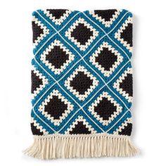 Crochet Afghans Design Ravelry: Diamond Granny Afghan pattern by Yarnspirations Design Studio - Crochet Gratis, All Free Crochet, Crochet Home, Easy Crochet, Crochet Crowd, Afghan Crochet Patterns, Crochet Motif, Crochet Afghans, Granny Pattern
