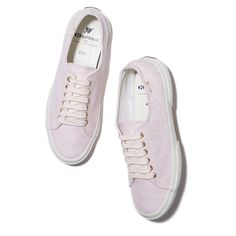 Superga xo Jennifer Meyer Arrow Sneaker in Powder Pink Linen