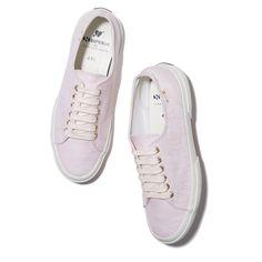 Superga xo Jennifer Meyer Arrow Sneaker in Powder Pink Linen