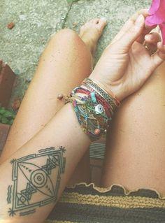 geometric tattoo   Tumblr