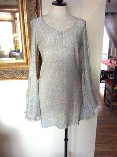 Betsey Johnson Paraphernalia Vintage Silver Mini Dress SZ 9 #BetseyJohnson
