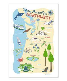 Love this 'Pacific Northwest' Dish Towel by Vestiges on #zulily! #zulilyfinds