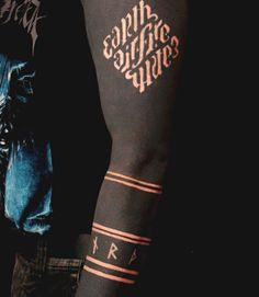 Solid Black Tattoo Sleeve | Black tattoo idea