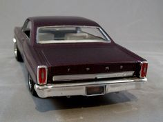 1966 Ford Fairlane GT 500 1/25 scale model car.