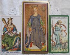 Ancient Italian Tarot, Visconti-Sforza Tarot, Tarot of the Master - Queen of Wands - Botok Királynője Tarot kártya - Tarot tanfolyam indul 2018 őszén, részletek a blogon