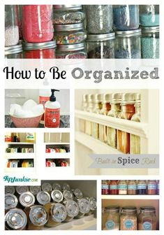 How to Be Organized #organize #tips