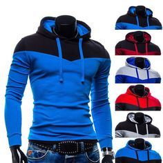 Color Contrast Pull Over Mens Fashion Hoodie | Sneak Outfitters