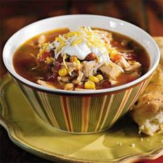 Fiesta Turkey Soup With Green Chile Biscuits. This is my new turkey recipe after thanksgiving! It's amazing!!!!