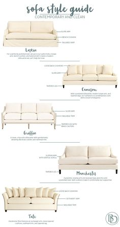 Types Of Sofas Couches Explained WITH PICTURES Interiors - Sofa design styles