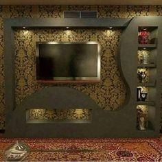Home Decor: 20 Wonderful places for TV wall mount House Ceiling Design, Living Room Tv Unit Designs, Modern Tv Wall Units, Lcd Panel Design, Tv Wall Design, Tv Room Design, Wall Design, Lcd Wall Design, Ceiling Design Bedroom