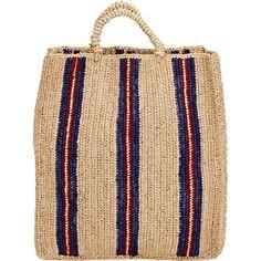 Soeur Sac 3 Tote (€85) ❤ liked on Polyvore featuring bags, handbags, tote bags, multi, woven tote bag, top handle handbags, striped tote, stripe tote bag and accessories handbags