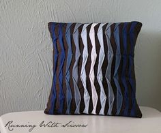 DIY Pillow Ideas: The pleats in this blue ombre pillow give it lots of texture and interest. To top it off, it's really quite simple to make...