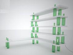 wine bottle shelf