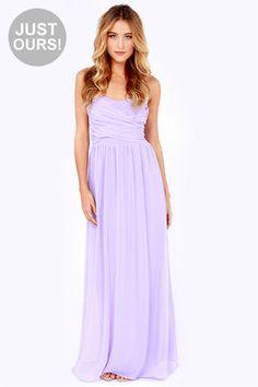 LULUS Exclusive Slow Dance Strapless Lavender Maxi Dress at LuLus.com!  Bridesmaids Dresses