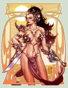A sketch done at a convention for a fan of Dejah Thoris from the science fiction novel John Carter: A Princenss of Mars by Edgar Rice Burroughs. Description from majorspoilers.com. I searched for this on bing.com/images