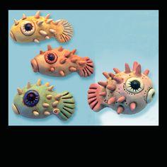 Christi Friesen's Puffer fish - free PDF.  ~ Polymer Clay Tutorials