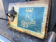 Kansas City Royals Wood Wall Mounted Bottle by southernstatepride