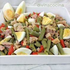 {Garbanzo} Chickpea salad with avocado and tuna fish - Laylita's Recipes Healthy Dinner Recipes, Vegetarian Recipes, Cooking Recipes, Clean Eating, Healthy Eating, Comidas Lights, Coliflower Recipes, Deli Food, Salad Recipes