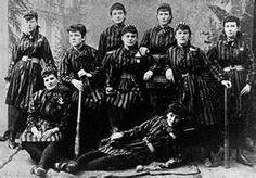 Women's baseball team...