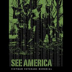 """Vietnam Veterans Memorial by Darrell Stevens, part of """"See America"""" campaign by The Creative Action Network (CAN)"""