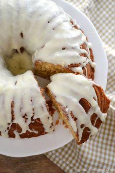 Eggnog Bundt Cake with an Eggnog Glaze ~ moist & delicious!