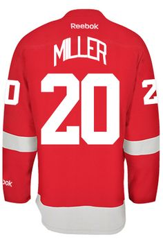 e927fd412 Detroit Red Wings Drew MILLER  20 Official Home Reebok Premier Replica Adult  NHL CoolHockey