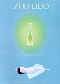 Advert of the fragrance Fragrance Relaxante(1997 - 2001) by Shiseido