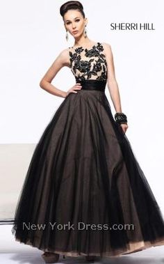 Sherri Hill 21134 Luscious Roses Banded Ball Gown By Refined And Elegant This
