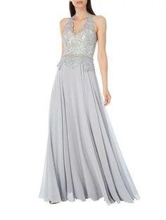 Luxuar Abendkleid mit Neckholder