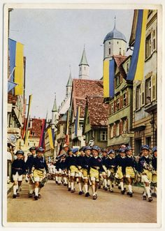BIBERACH Schützenfest / Schützentrommler * AK um 1930