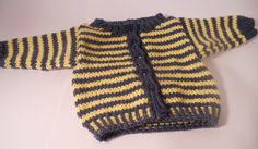 Soft Knit Baby Sweater Knit Baby Cardigan Striped door DickensKnits