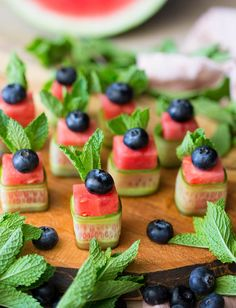 Watermelon Canapes - Beautiful, refreshing and healthy 4-ingredient appetizer -- no need for anything elaborate!