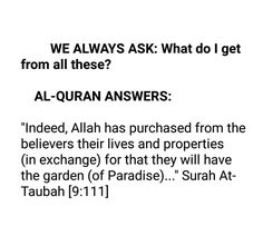 We ask.. Quran replies.. ❣ Subhan Allah   *MAY Allāh ﷻ Guide us in all our challenges to his Beautiful answers in AL-QURAAN.....*Aameen