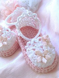 Baby Girl Light Pink Sandals Baby Cotton by TippyToesBabyDesigns ☆