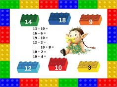 25 3 13 – 10 = 16 – 6 = 19 – 10 = 13 – 3 = 10 + 8 = 10 + 2 = 10 + 4 = 10 12 9 18 14 Lego, Family Guy, Comics, Fictional Characters, Teaching, Legos, Comic Book, Cartoons, Fantasy Characters